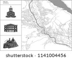 tbilisi city map with hand... | Shutterstock .eps vector #1141004456