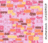 a seamless camouflage pattern... | Shutterstock .eps vector #1141009019