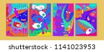 abstract colorful liquid and...   Shutterstock .eps vector #1141023953