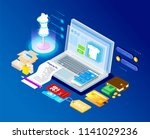 concept of a modern graphic... | Shutterstock .eps vector #1141029236