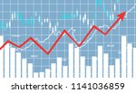 financial stock market  graph.... | Shutterstock . vector #1141036859