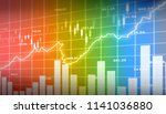 financial stock market  graph.... | Shutterstock . vector #1141036880