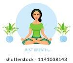 amazing cartoon girl with open...   Shutterstock .eps vector #1141038143