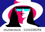 summer girl  female close up... | Shutterstock .eps vector #1141038296