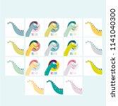 dinosaur   salvador dali....   Shutterstock .eps vector #1141040300