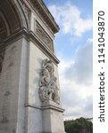triumphal arch paris france | Shutterstock . vector #1141043870