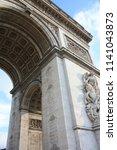 triumphal arch paris france | Shutterstock . vector #1141043873