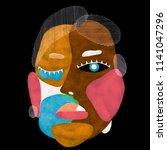 woman portrait in modern... | Shutterstock . vector #1141047296