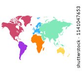 color world map vector | Shutterstock .eps vector #1141047653