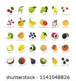 clip art miniatures of fruits... | Shutterstock .eps vector #1141048826