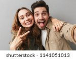 portrait of a cheeful young...   Shutterstock . vector #1141051013