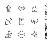 modern simple vector icon set.... | Shutterstock .eps vector #1141051223