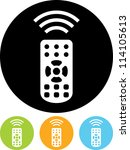 remote control   vector icon... | Shutterstock .eps vector #114105613