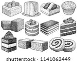 cake collection illustration ... | Shutterstock .eps vector #1141062449