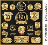 anniversary retro vintage... | Shutterstock .eps vector #1141063280