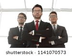 close up.a group of confident... | Shutterstock . vector #1141070573