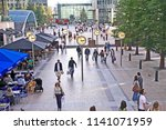 the reuters plaza  canary wharf ... | Shutterstock . vector #1141071959
