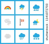 weather icons flat style set... | Shutterstock .eps vector #1141072703