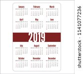 simple vertical calendar layout ... | Shutterstock .eps vector #1141077236