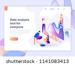 landing page template of data... | Shutterstock .eps vector #1141083413