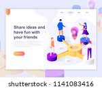 landing page template of... | Shutterstock .eps vector #1141083416