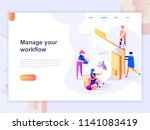 landing page template of... | Shutterstock .eps vector #1141083419