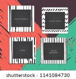 cartoon style. decorative... | Shutterstock .eps vector #1141084730
