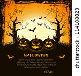 orange grungy halloween... | Shutterstock .eps vector #114108823