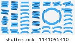 vector ribbons banners isolated ... | Shutterstock .eps vector #1141095410