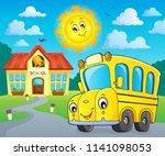school bus thematics image 2  ...   Shutterstock .eps vector #1141098053