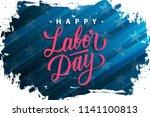 usa labor day celebrate banner... | Shutterstock .eps vector #1141100813