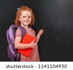 back to school. funny little... | Shutterstock . vector #1141104950