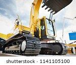 hydraulic bucket for crawler...   Shutterstock . vector #1141105100