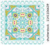 decorative colorful ornament on ... | Shutterstock .eps vector #1141106639