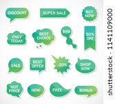 vector stickers  price tag ... | Shutterstock .eps vector #1141109000