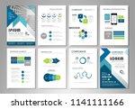 infographic brochure elements... | Shutterstock .eps vector #1141111166