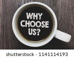 word writing text why choose us ... | Shutterstock . vector #1141114193
