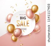 sale banner with pink and gold ... | Shutterstock .eps vector #1141117403