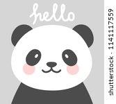 hello cute panda character... | Shutterstock .eps vector #1141117559