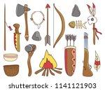 illustration of native american ... | Shutterstock .eps vector #1141121903