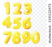 cartoon balloons doodle numbers.... | Shutterstock .eps vector #1141122473
