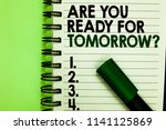 handwriting text are you ready... | Shutterstock . vector #1141125869