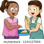illustration of a kid girl... | Shutterstock .eps vector #1141127003