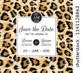 wedding invitation template... | Shutterstock .eps vector #1141128863