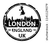 london england travel stamp... | Shutterstock .eps vector #1141129079