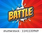 battle background poster comic... | Shutterstock .eps vector #1141133969