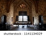 Small photo of Interior view of the Palace of the Grand Master of the Knights of Rhodes is a medieval castle in the city of Rhodes in Greece on Nov. 12, 2017.