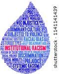 institutional racism word cloud ... | Shutterstock .eps vector #1141141439