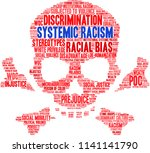 systemic racism word cloud on a ... | Shutterstock .eps vector #1141141790