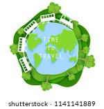 time to travel concept vector... | Shutterstock .eps vector #1141141889